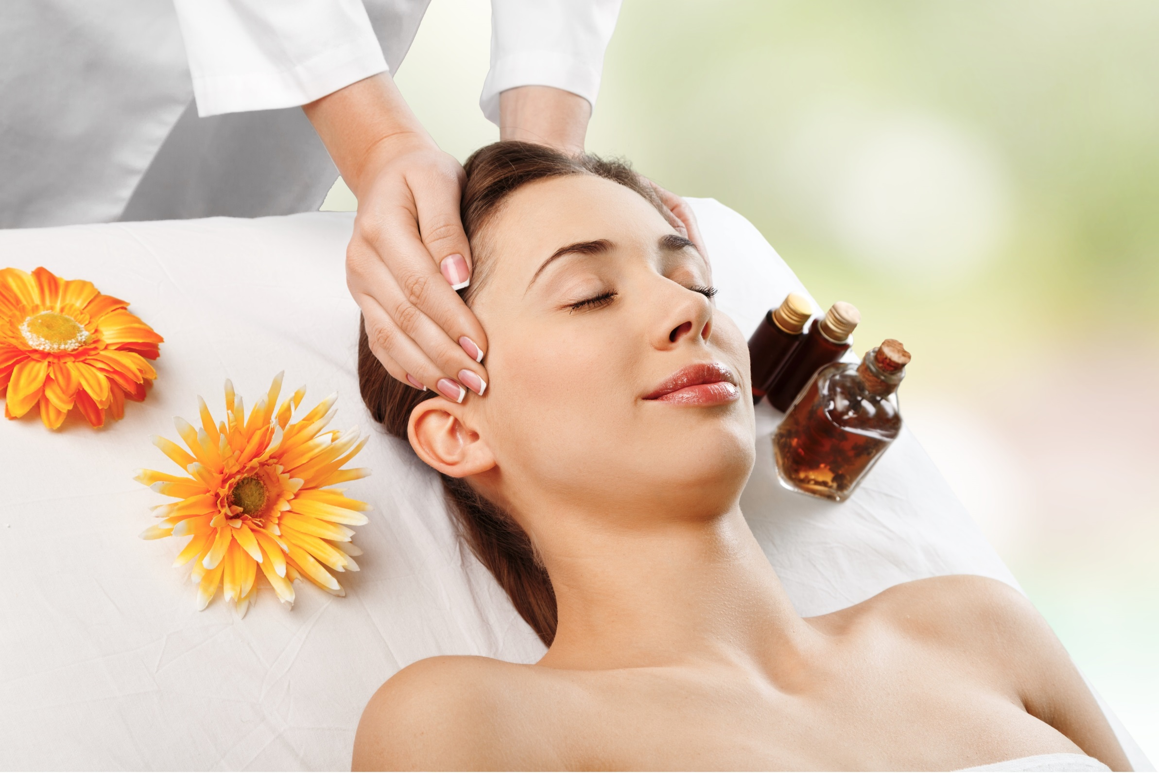 Massage with essential oils