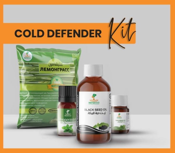 Nefertiti NaturalOilsHerbs Cold Defender Kit En 1